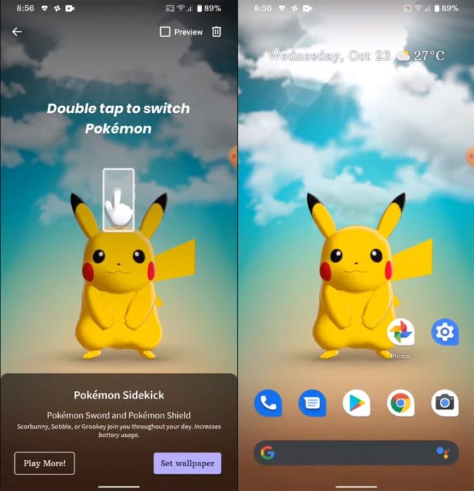 Instalar Pokemon Live Wallpaper - InPost 2